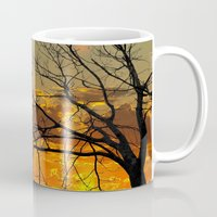 jewish Mugs featuring Sunset Tree by Brown Eyed Lady