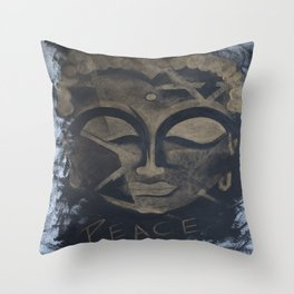 Peace - The Budha Throw Pillow