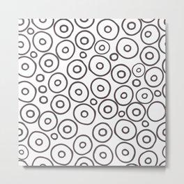 circles 2 - brown and white Metal Print