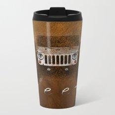Jeep Abstract Metal Travel Mug