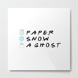 Paper Snow A Ghost Metal Print