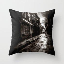 Ghostly Shambles York Throw Pillow