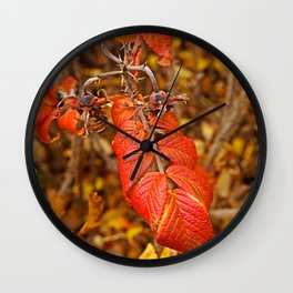 autumnal leaves Wall Clock
