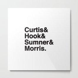 Surnames of the Joy Division musicians Metal Print