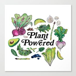 Plant Powered Canvas Print