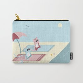 Traveling Tabbies: Let's Go to the Beach Carry-All Pouch