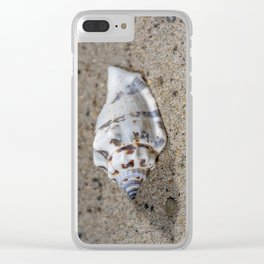 spotted sea snail shell Clear iPhone Case