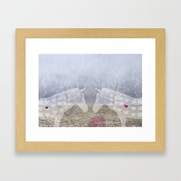 Dear love I am here Framed Art Print
