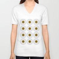daisy V-neck T-shirts featuring Daisy by Lorelei Douglas