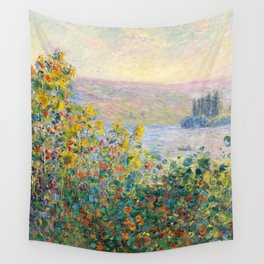 Flower Beds at Vétheuil by Claude Monet 1881 Wall Tapestry