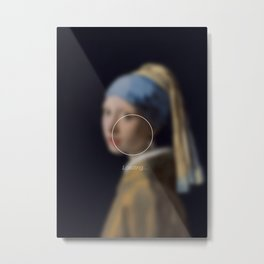 Girl with a Pearl Earring _loading. Metal Print