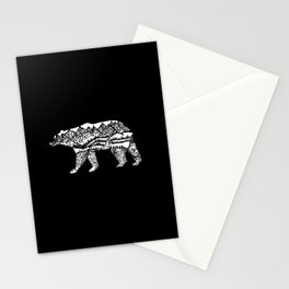Bear Necessities in Black Stationery Cards