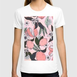Flowering in the pink oranges T-shirt