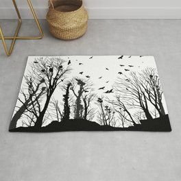 rooks and trees 1 Rug