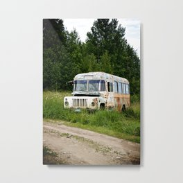 A Bus in Russia Metal Print