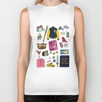 mean girls Biker Tanks featuring Mean Girls by Shanti Draws