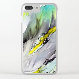 Iris Abstract Clear iPhone Case