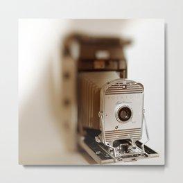 Polaroid 800 vintage camera Metal Print