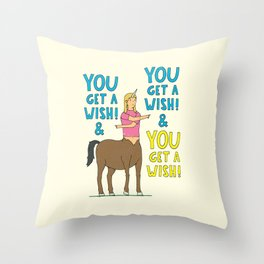 It's wish time! Throw Pillow