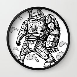 Robocop Robot Bear by RonkyTonk Wall Clock