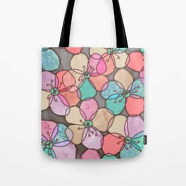 It's Always Summer Somewhere - bright poppy floral Tote Bag
