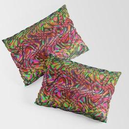 Waving Neon Pillow Sham
