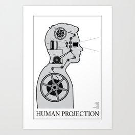 Human Projection Art Print
