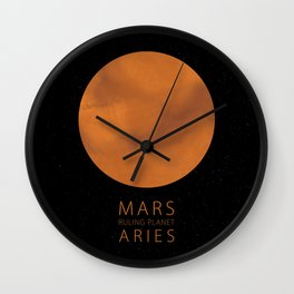 Aries - Ruling Planet Mars Wall Clock