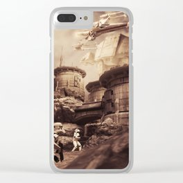 Tatooine Flyby Clear iPhone Case