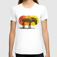 card T-shirts featuring Zebra Card by Joshie