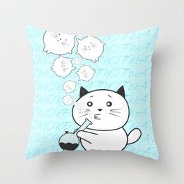 Smoke Cat not War Throw Pillow