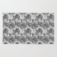 malachite Area & Throw Rugs featuring Malachite black and white by ravynka