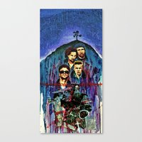u2 Canvas Prints featuring U2 by kenmeyerjr