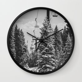 Chairlift to the Top Wall Clock