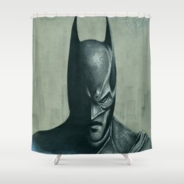 Caped Crusader  Shower Curtain