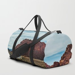 """""""Between Here And There"""" (Valley of Fire; Nevada) Duffle Bag"""
