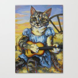 Sweet Cowgirl Sally Canvas Print