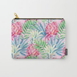 Pineapple & watercolor leaves Carry-All Pouch