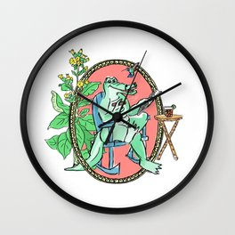 Cuban crocodile Wall Clock