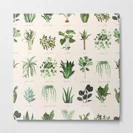 A collection for plant lovers urban seamless pattern Metal Print