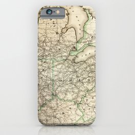 Map of the Pennsylvania Railroad (1871) iPhone Case