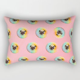Unicorn Pug Pastel Donut Rectangular Pillow