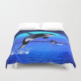 Orca Duvet Cover