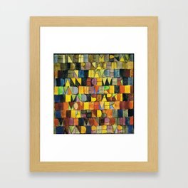 Paul Klee Once Emerged from the Gray of Night Framed Art Print