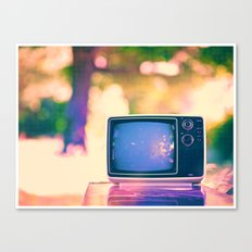 Sunset on the TV Canvas Print