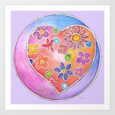 Modern Heart Lavender Art Print