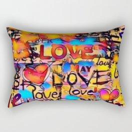 Graffiti Love Rectangular Pillow