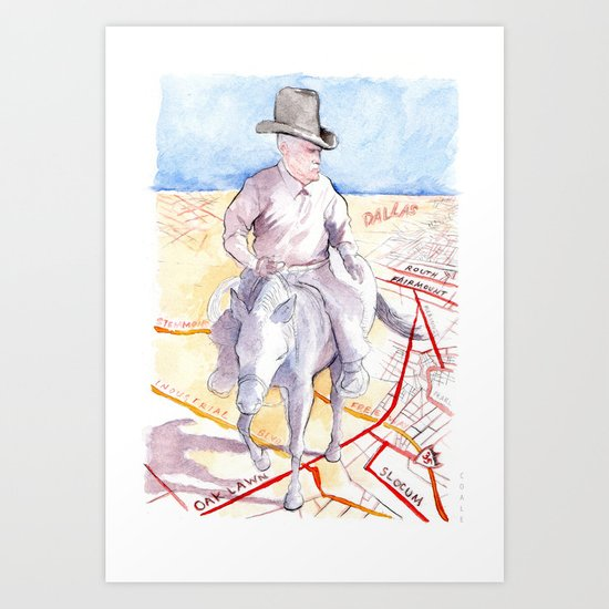 Dallas, Texas Art Print