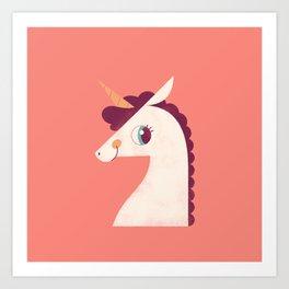 Minimal Unicorn Art Print