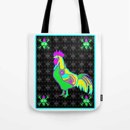 dubstep rooster Tote Bag